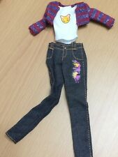 Barbie So In Style S.I.S Trichelle Doll's Outfit Striped Sweater Jacket Bear Top