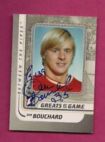 FLAMES DAN BOUCHARD GOALIE  AUTOGRAPH CARD (INV# A7676)