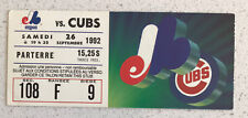 Ticket stub 1992 Sept. 26  19:35  Expos vs Cubs Section 108  Row F Seat 9