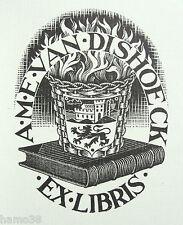 M.C. ESCHER 1950, Orig. Woodcut in book, 500 copies  (Bool/Locher 329)