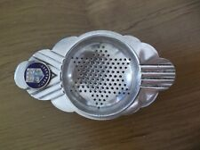 VINTAGE PITCHER EPNS TEA STRAINER DECO STYLE, WITH WARRNAMBOOL COAT OF ARMS