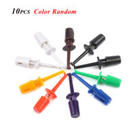 Random Color Multimeter Lead Wire Test Probe Hook Clip Set Grabbers Connector