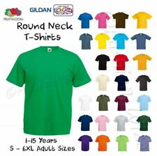 Boys Plain T-Shirt School P.E. Sports Gym Age 2 3 4 5 6 7 8 9 10 11 12 13 14 15