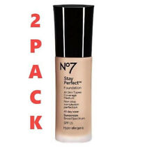 Boots No7 Stay Perfect Foundation SPF 15 WARM SAND - 1oz 05/20+ (2 PACK) NEW