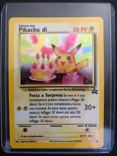 Carta Pokémon Pikachu Birthday Holo Black Star Promo #24 Italiano Near Mint