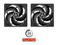 2 x Pack Arctic P12 PWM PST 120mm Case Fans 200-1800 RPM 4-Pin Black/Black