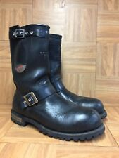 RARE🔥 Red Wing 988 Motorcycle Engineer Steel Toe Black Leather Boots 11 Buckle