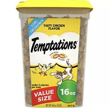 Temptations Cat Treats 10 Count, Tasty Chicken Flavor, 16 Oz Tub