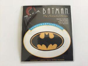 Batman Animated Series Bat Signal Temporary Tattoos 1993 sealed Rare Collectible
