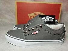 New Vans Chukka Low Pro Canvas Grey White Ultra Cush Leather Skate Shoe Men's 7
