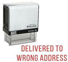 Delivered To Wrong Address -Office Self Ink Rubber Stamp Cosco Printer- Red Ink