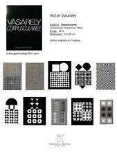 Victor Vasarely Corpusculaire - 1973 -  tirage originale d'époque