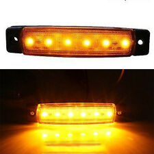 9.6*2*1cm Amber 12V 6LED SMD Truck Trailer Bus Side Marker Indicators Lights