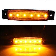 Orange Amber 12V 6LED SMD Truck Trailer Bus Side Marker Indicators Lights