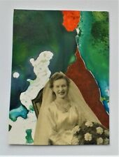 More details for aceo miniature collage and acrylic abstract no.2 by janet r. signed/dated
