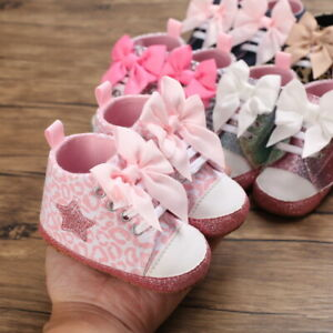 Fashion New Baby Girl Pram Shoes Infant High Top Boot Toddler PreWalker Trainers