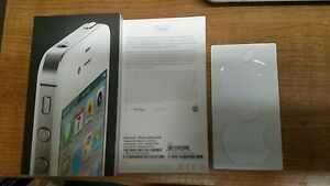 Iphone 4 16GB (white) BOX & APPLE STICKERS ONLY (No Phone)