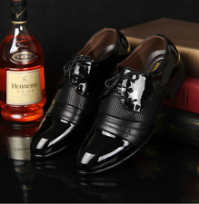 Plus Size Men's Lace Up Dress/Formal Flats Leather Shoes Business Oxford Shoes