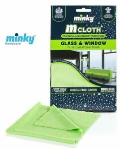 Minky M Cloth Glass And Window Mircrofibre Cleaning Cloth Green
