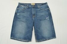 "Buckle 36 x 12"" Baxter Medium Wash Destroyed Denim Jean Shorts"