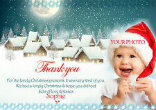 Personalised  Christmas Thank you PHOTO Cards  Christmas Gift Thank You Cards