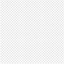 Baumwollstoff Pünktchen weiß grau METERWARE Webware Popeline Stoff