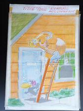 Planche originale de montage de couverture avec calque couleur Foxie N° 145