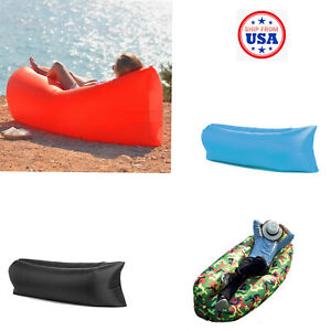Portable Inflatable Chair Air Bed Sleeping Bag Sofa Lounge Pool Beach Party US