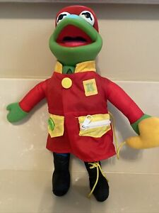 1990 Learn to Dress Kermit Plush the Frog Doll Mattel
