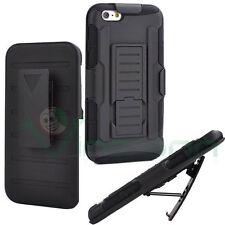 "Custodia cover stand Sliding Rugged per iPhone 6 Plus 6S 5.5"" clip cintura NERA"