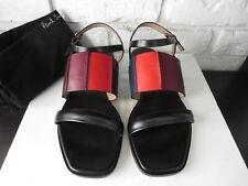 PAUL SMITH Women's Shoes Constance Sandals Leather Black Size 38 US 7.5 - NIB
