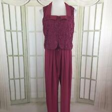 Wild Rose Crochet Bodice Career Jumper Romper Pleated Pants Size 10