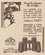 Z8525 Jumelle HUET - Paris - Pubblicità d'epoca - 1931 Old advertising