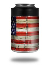 Skin for Yeti RTIC Can Painted Faded Cracked USA American Flag COLSTER NOT INC