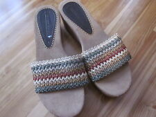 New Montego Bay Club 9.5 Multi Color Fabric Womens Slide Sandals CUTE!
