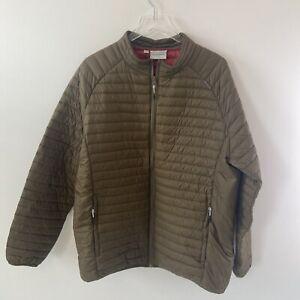 Craghoppers Mens Lightweight Down Quilted Jacket Size XL EU 56 Green England