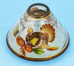 Yankee Candle CRACKLE GLASS HAPPY THANKSGIVING LAMP SHADE