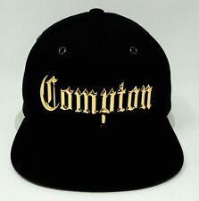 COMPTON CA City Snapback Cap Hat Los Angeles California OSFM NWT Metal Gold