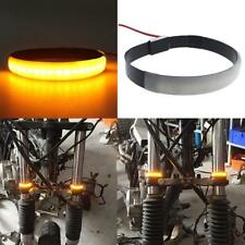 2 Pcs Motorcycle Fork Turn Signals Light Amber LED Strips For Clean Custom DT