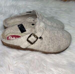 Relax Der Wohlfuhl Schuh Wool Clogs Gray Women's Size 39 US 8