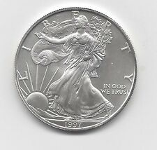 1997 - 1 oz American Silver Eagle Coin - One Troy oz .999 Bullion