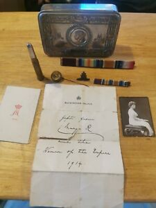 Christmas 1914 Princess Mary Tin And Contents WWI