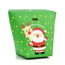 2/6/10X Christmas Animal Printed Party Paper Favour Cupcake Candy Carrier Boxes