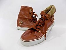 """Womens Apple Bottom High Top Tennis shoes, size 9 or 91/2 Brown """"Leather"""""""