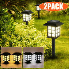 2Pack Solar Powered Oriental Lantern Stake Path Lights Outdoor Garden  H