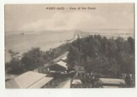 Port Said View Of The Canal Egypt North Africa Vintage Postcard 288c