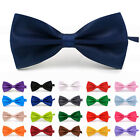 Top Quality Mens Pre Tied BOW TIE Plain Wedding Bowtie Party Classic Prom Formal