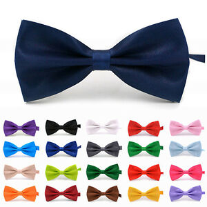 Fashion Men Bow Tie Neck Clip-on Tuxedo Dickie Fancy Dress Wedding Adjustable