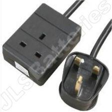 20M Extension Lead Single Socket 1 Gang Way Mains Lead  Cable BLACK 1G 20 Metre