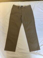 Lands End Men's Beige Khaki Flat Front Chinos Tailored Fit W 32 x L 28